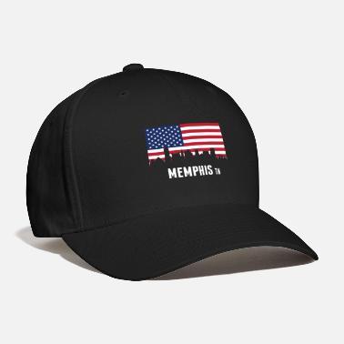 new products 80d0f 3e3cf ... switzerland memphis american flag memphis skyline baseball cap f099e  439d7
