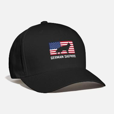 German Shepherd German Shepherd American Flag - Baseball Cap