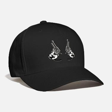 Cartoon Hands Revolver with hands cartoon. - Baseball Cap
