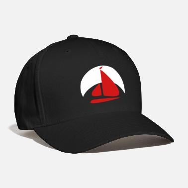 Boat Sail boat logo with crescent moon shape - Baseball Cap