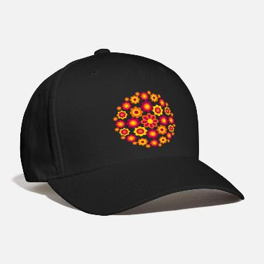Cheerful Madness Floral Wheel by Cheerful Madness!! - Baseball Cap