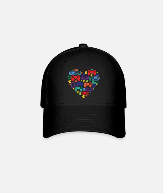 Video Game Caps & Hats - Video Game Love - Baseball Cap black
