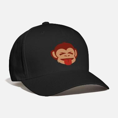 Tongue Monkey Tongue and Closed Eyes - Baseball Cap