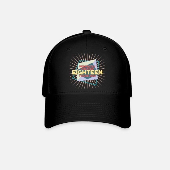 Birthday Caps - 18th Birthday - Baseball Cap black