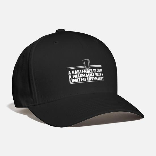 Surprise Caps - Bartender / Pharmacist / Drinks / Shots / Clubbing - Baseball Cap black