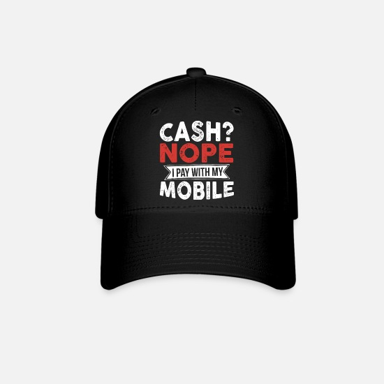 Render Caps - Cash Phone Mobile Payment Digital Money Funny Gift - Baseball Cap black