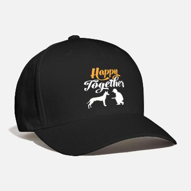 Silhouette Happy Together - Pharaoh dog & dog owners - Baseball Cap