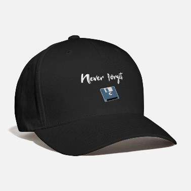 Disk never forget floppy computer science floppy gift - Baseball Cap