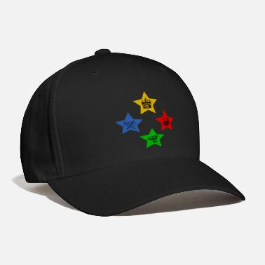 Stars 4 Stars With Wolf Skull Crossed Axe And Crown - Baseball Cap