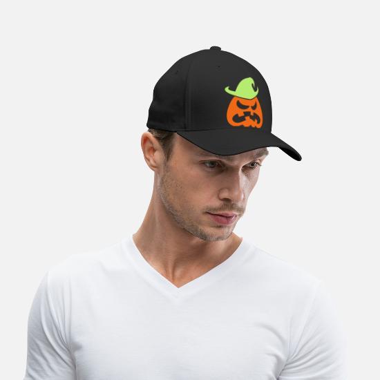 c777122e2 Angry Halloween Scarecrow Baseball Cap - black