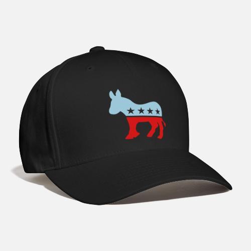 Democrat Donkey TWO COLOR - Baseball Cap. Front 4b9861cf7dd