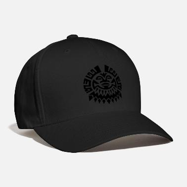 American $ Mayan Tribal Face VECTOR - Baseball Cap