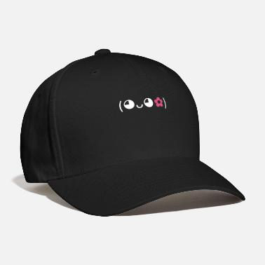 Emoticon flower girl. Perfect gift for woman - Baseball Cap