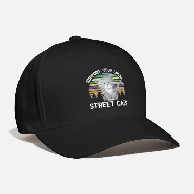 Support Your Local Street Cats Support your local street cats T Shirt - Baseball Cap