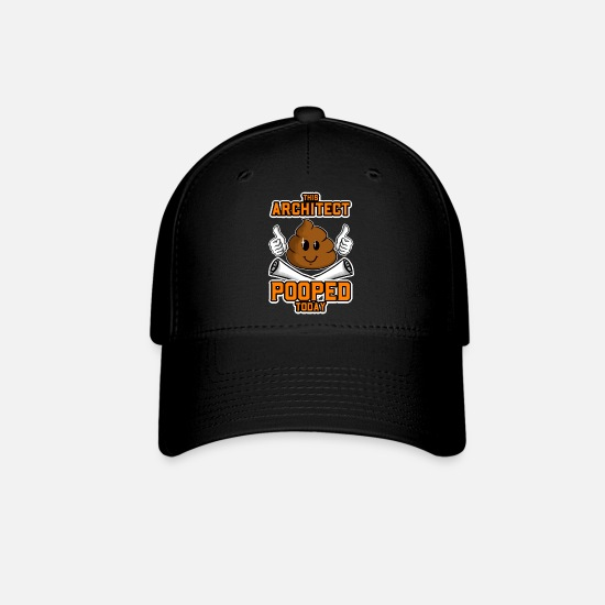 Poop Caps - This Architect Pooped Today - Baseball Cap black