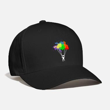 Skydiving Colorful Parachuting Skydiving Paragliding - Baseball Cap