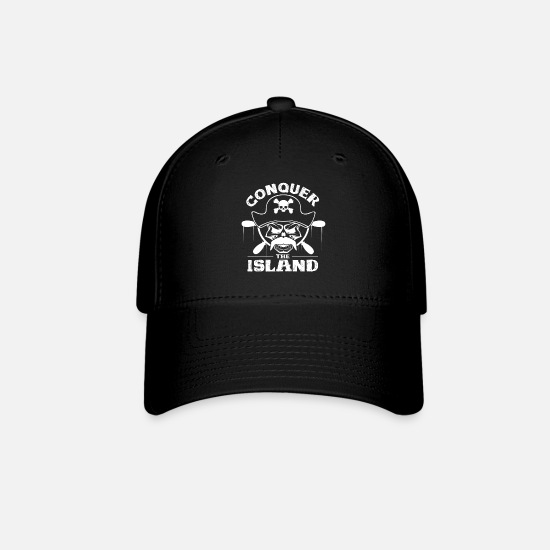 Pirate Caps - Island Pirate Gift Idea Eye Patch Helmsman - Baseball Cap black