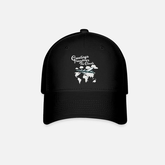 Pilot Caps - Greetings from above the clouds Gift idea pilot - Baseball Cap black