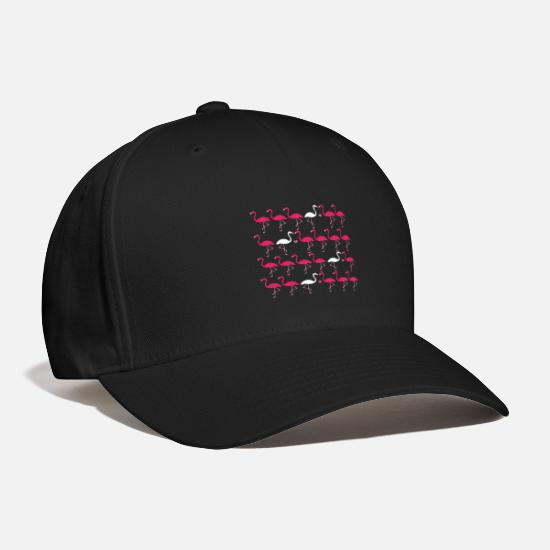 Heart Caps - Flamingo different Pink Beak Gift Think Present - Baseball Cap black