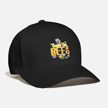 Bee Save the Bees Bee Honey Beekeeper Flowers Gift - Baseball Cap