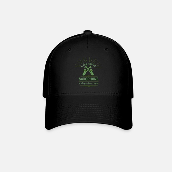 Birthday Caps - Saxophone Sax Woodwind Music Instrument Song Funny - Baseball Cap black