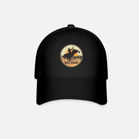 Rodeo Caps - Bull Riding Cowboy Western Rodeo - Baseball Cap black
