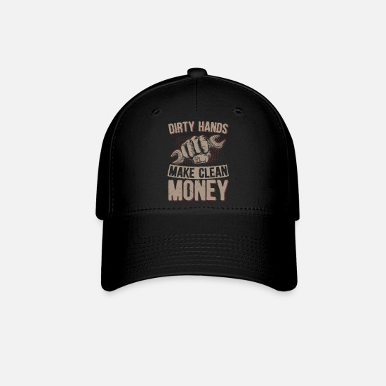 Dirty Caps - Dirty handy, clean money gift idea - Baseball Cap black