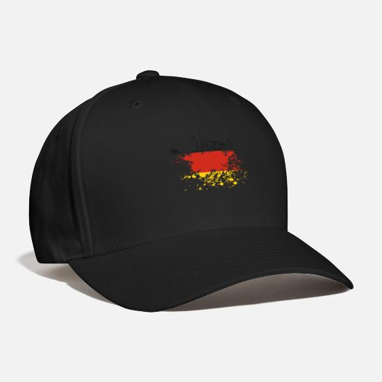 National Caps - Germany Flag Ink - Baseball Cap black