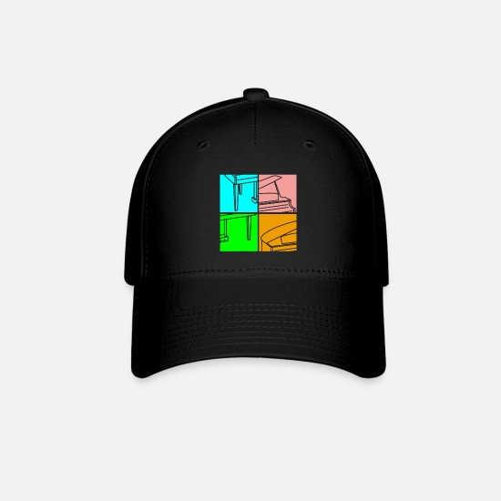 Keyboard Caps - Piano Orchestra - Baseball Cap black