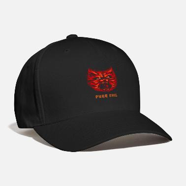 Hell Purr Evil Shirt Cat Lover Hell Death Metal Tshirt - Baseball Cap