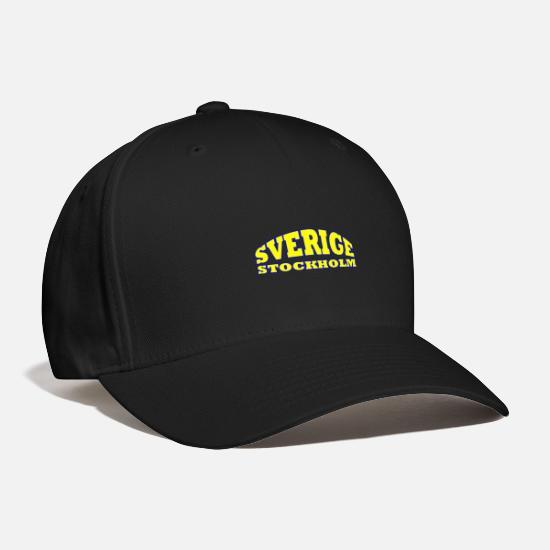 5a0da6d81 Sweden Stockholm Baseball Cap - black