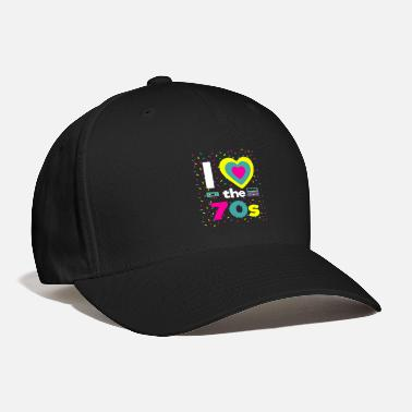 70s I Love The 70s 70 Party Motto Party Fun Boombox - Baseball Cap