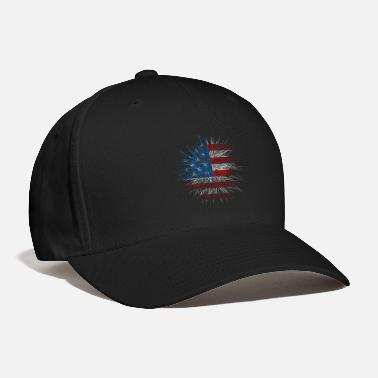 Freedom American Flag Fireworks USA Independence Day Gift - Baseball Cap
