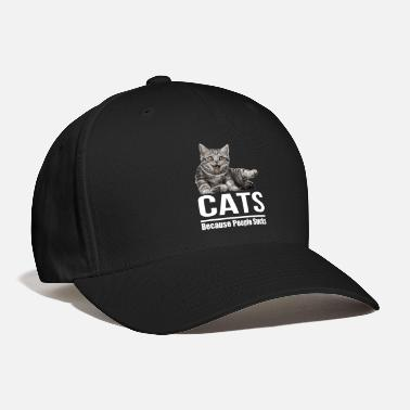 Animal Rights Activists Cats because people sucks - Baseball Cap