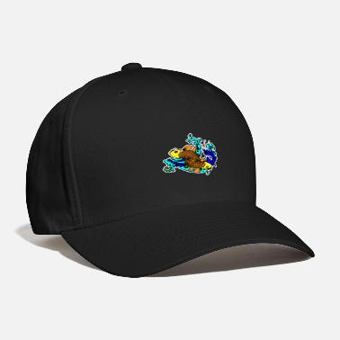 Plaice Fish Yin Yan - Baseball Cap