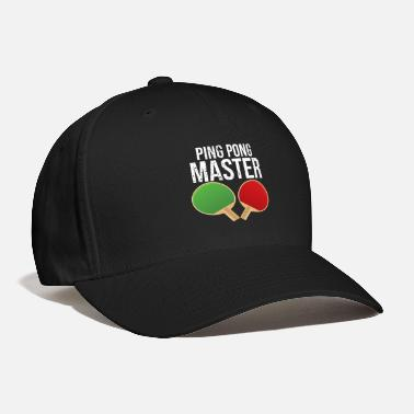 Ping Ping Pong Master Table Tennis Shirt - Baseball Cap