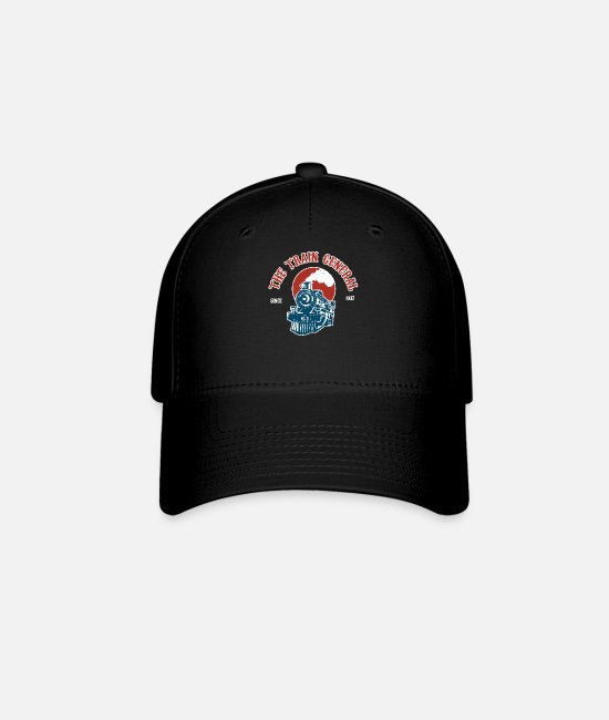 Training Caps & Hats - The Train General Cool Expert Transportation Trip - Baseball Cap black
