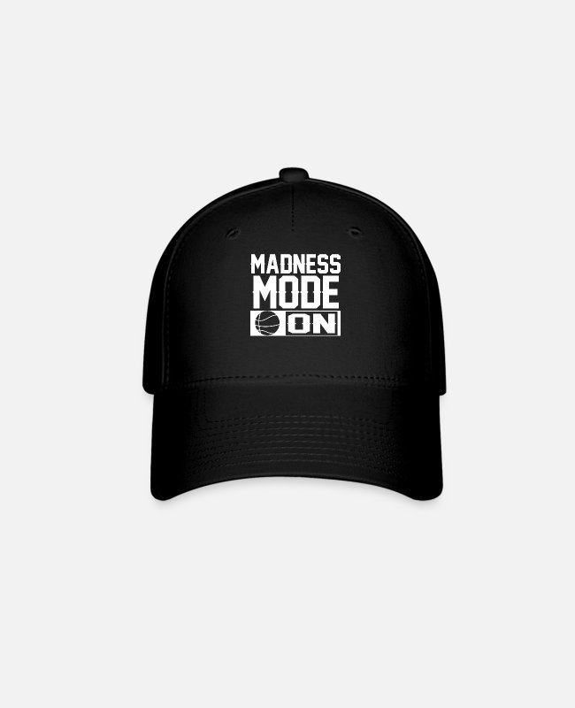 Hoops Caps & Hats - Basketball Bracket Wizard Gift I Madness Mode On - Baseball Cap black