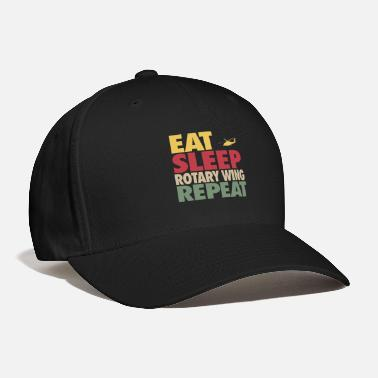 Wing Eat Sleep Rotary Wing Repeat RETRO EDITION - Baseball Cap