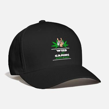 Ganja Weed And Gaming - Baseball Cap