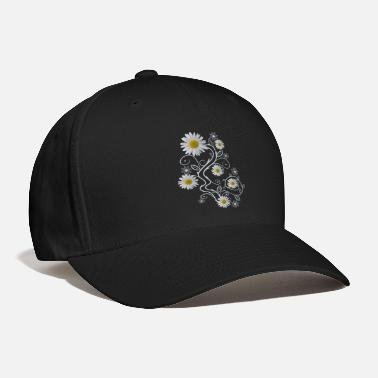 daisy flowers white daisies bloom floral ornaments - Baseball Cap