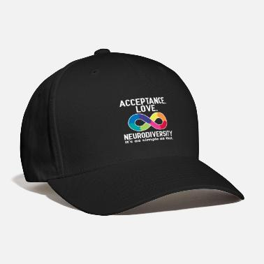 Infinity Acceptance Love Neurodiversity Autism Awareness - Baseball Cap