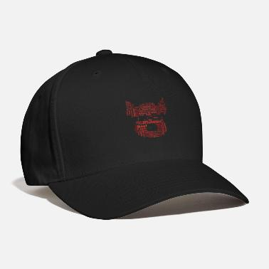 Meat-eaters Meat-Eater Wordcloud (red) - Baseball Cap
