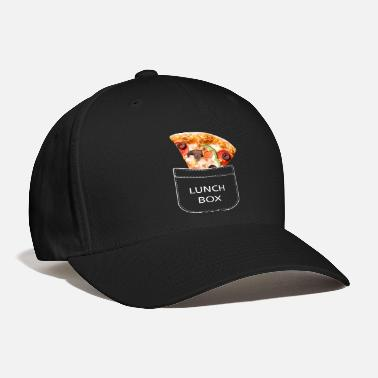 Lunch-boxes Pizza slice in the breast pocket. Lunch box. - Baseball Cap