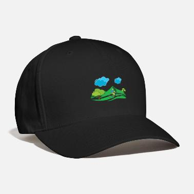 Excursion Bicycle driving mountains excursion cyclists - Baseball Cap