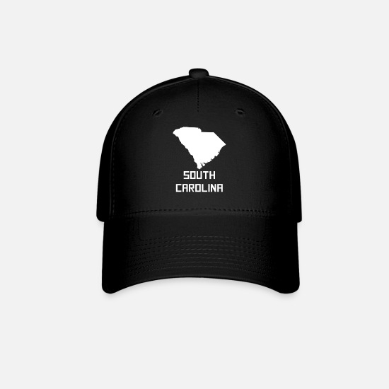 South Caps - South Carolina State Silhouette - Baseball Cap black