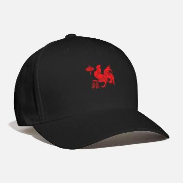 8bda844dbc4 Rooster Rooster Red Silhouette - Baseball Cap