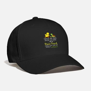 Go Turtles Are Green Ducks Go Quack We_re Best Friends - Baseball Cap