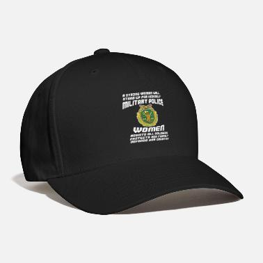 Police A Military Police Woman Assists Protects Defends - Baseball Cap