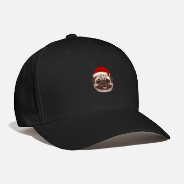 Carlino Pug Christmas Shirt Cute Dog Santa Claus Gift Idea - Baseball Cap